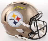 Antonio Brown Signed Pittsburgh Steelers Full-Size Chrome Speed Helmet (JSA COA) at PristineAuction.com
