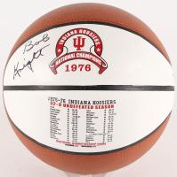 Bobby Knight Signed Indiana Hoosiers 1976 National Champions Logo Basketball (PSA COA)