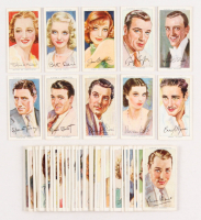"""1938 Player's """"Film Stars"""" Complete Set of (50) Cigarette Cards with Spencer Tracy, Jimmy Stewart, Bette Davis, Vivien Leigh, Joan Crawford"""