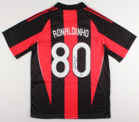 "Ronaldinho Signed A.C. Milan Jersey Inscribed ""Rio"" (Beckett COA)"