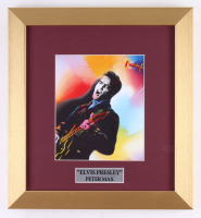 "Peter Max ""Elvis"" 12x13 Custom Framed Print"