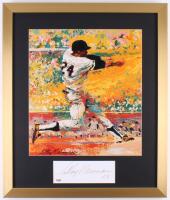 "LeRoy Neiman Signed ""Willie Mays"" 19.5x23 Custom Framed Cut Display Inscribed ""03"" (PSA COA)"