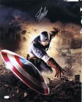Stan Lee Signed Captain America 16x20 Photo (JSA Hologram)