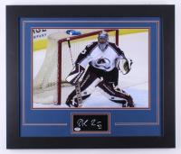 Patrick Roy Signed Avalanche 23.5x27.5 Custom Framed Cut Display (PSA COA)