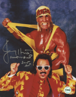 Jimmy Hart Signed WWE 8x10 Photo with Inscription (Fiterman Hologram)