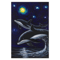"Wyland Signed ""Companions In the Starry Sea"" 20x30 Original Oil Painting on Canvas at PristineAuction.com"
