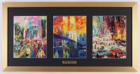 "LeRoy Neiman ""Set of Three Scenes"" 16x31 Custom Framed Prints Display"