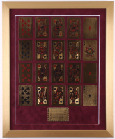 "24K Gold Playing Cards ""Royal Flush"" 18x22 Custom Framed Display"