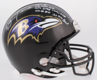 Ray Lewis Signed Ravens Full-Size Authentic On-Field Helmet with Multiple Inscriptions (Beckett COA) at PristineAuction.com