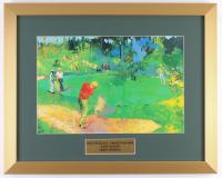 "LeRoy Neiman ""Jack Nicklaus, Arnold Palmer & Gary Player"" 16x20 Custom Framed Print Display"
