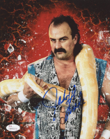 Jake Roberts Signed WWE 8x10 Photo (JSA COA)