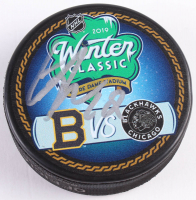Alex DeBrincat Signed 2019 Winter Classic Logo Hockey Puck (Beckett COA)