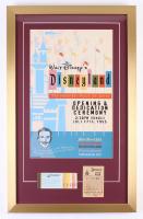 Disneyland 17x27 Custom Framed Vintage Poster Display with Vintage Ticket Booklet & Parking Pass