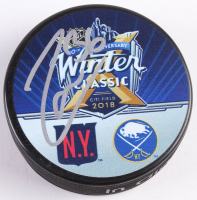 Mats Zuccarello Signed 2018 Winter Classic Logo Hockey Puck (Beckett COA)
