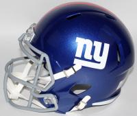 Saquon Barkley Signed Giants Full-Size Speed Helmet (Beckett COA) at PristineAuction.com