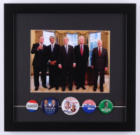 United States Presidents 15.5x16 Custom Framed Photo Display of (5) with George H.W. Bush, George W. Bush, Barack Obama, Bill Clinton & Jimmy Carter