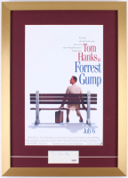 "Tom Hanks Signed ""Forrest Gump"" 16.5x23 Custom Framed Cut Display (PSA COA)"