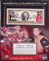 Muhammad Ali Limited Edition Colorized Genuine Legal Tender U.S. $2 Bill Display