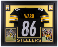 Hines Ward Signed Steelers 35x43 Custom Framed Jersey (JSA Hologram)