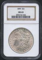 1899 $1 Morgan Silver Dollar (NGC MS 63)