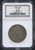 1836 - O-109 - 50¢ Capped Bust Half Dollar (NGC XF 45)