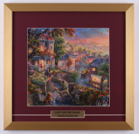 "Thomas Kinkade ""Lady and the Tramp"" 17.5x18 Custom Framed Print Display"