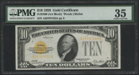 1928 $10 Ten Dollars U.S. Gold Certificate Currency Bank Note Bill (AA Block) (PMG 35)