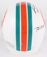 Larry Csonka Signed Dolphins Full-Size Authentic On-Field Throwback Helmet with (4) Career Inscriptions (JSA COA) at PristineAuction.com