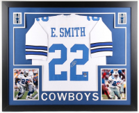 Emmitt Smith Signed Dallas Cowboys 35x43 Custom Framed Jersey (Beckett COA & Prova Hologram)