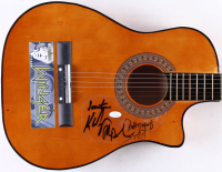 """Winger Acoustic Guitar Band-Signed by (4) with Kip Winger, Rod Morgenstein, Reb Beach & John Roth Inscribed """"Seventeen"""" (JSA COA)"""