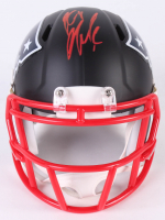 Rob Gronkowski Signed Patriots Custom Matte Black Speed Mini-Helmet (Beckett COA)