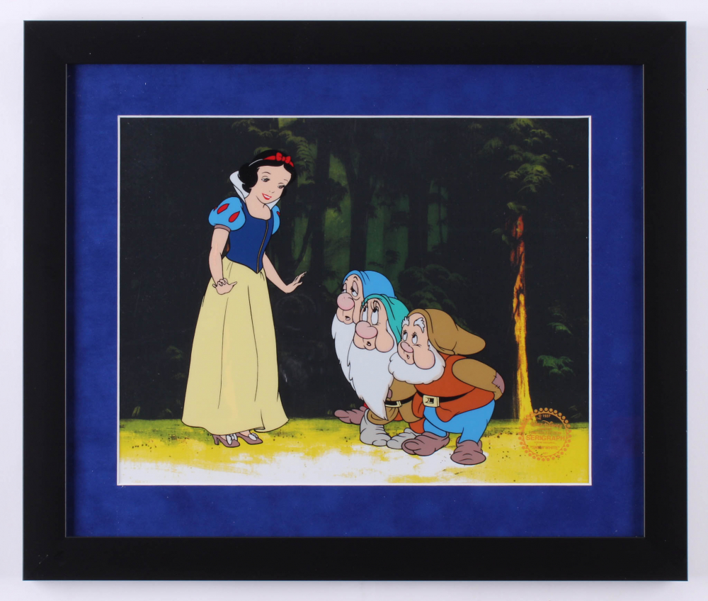"Walt Disney's ""Snow White and the Seven Dwarfs"" 16x19 Custom Framed Hand-Painted Animation Serigraph Display at PristineAuction.com"