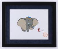 "Walt Disney's ""Dumbo"" 16x19 Custom Framed Hand-Painted Animation Serigraph Display"