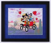 "Walt Disney Mickey & Minnie Mouse ""Nifty Ninties"" 16x19 Custom Framed Limited Edition Serigraph Cel"