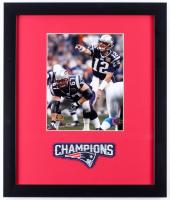 Tom Brady Super Bowl XXXVIIII 16x19 Custom Framed Photo Display with Patch
