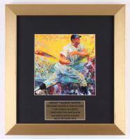 "LeRoy Neiman ""Mickey Mantle"" 12.5x13.5 Custom Framed Print Display"