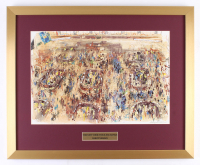 "LeRoy Neiman ""The New York Stock Exchange"" 20x24.5 Custom Framed Print Display"