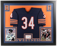 Walter Payton Signed Bears 35x43 Custom Framed Cut Display with Jersey (Payton COA)