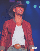 Tim McGraw Signed 8x10 Photo (JSA COA)
