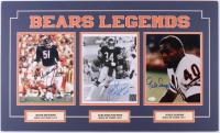 "Dick Butkus, Walter Payton & Gale Sayers Signed ""Bears Legends"" 18x30 Custom Matted Photo Display (JSA COA, Payton COA, Schwartz COA & SOP COA)"