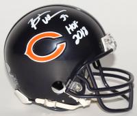 "Brian Urlacher Signed Bears Mini Helmet Inscribed ""HOF 2018"" (Beckett COA)"