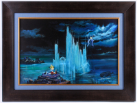 "Peter & Harrison Ellenshaw Signed ""Blue Castle"" LE 27x35 Framed Giclee on Canvas"