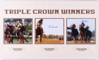 "Jean Cruguet, Ron Turcotte & Steve Cauthen Signed ""Triple Crown Winners"" 18x30 Custom Matted Photo Display (SOP LOA & MAB Hologram)"
