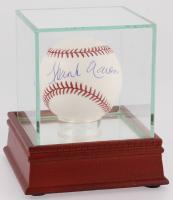 Hank Aaron Signed OML Baseball with Display Case (Steiner COA)
