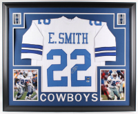 Emmitt Smith Signed Cowboys 35x43 Custom Framed Jersey (Beckett COA & Prova Hologram) at PristineAuction.com