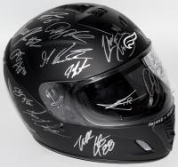 Full-Size Helmet Signed by (42) NASCAR Superstars with Dale Earnhardt Jr., Jimmie Johnson, Joey Logano, Brad Keselowski, Kyle Busch, Martin Truex Jr., Ryan Blaney (JSA ALOA)