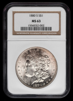 1880-S Morgan Silver Dollar (NGC MS 63)