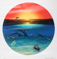 """Wyland Signed """"Warmth of the Sea"""" Limited Edition 26x26 Giclee on Canvas"""