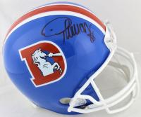 Demaryius Thomas Signed Broncos Full-Size Throwback Helmet (Beckett COA)