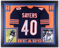 Gale Sayers Signed Chicago Bears 35x43 Custom Framed Jersey (Beckett Hologram)